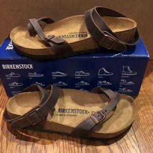 Birkenstock Yara Brown leather 7 medium